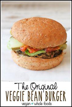 Original veggie and bean burger   www.veggiesdontbite.com   #vegan #plantbased #glutenfree