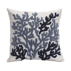 Harbor House Beach House 18-by-18-Inch Square Decorative Pillow, Blue