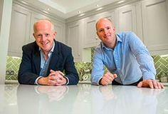 John Martin & Alan Stevens of Dublin Retrofit & Renovation company RENOVA. Chartered Quantity Surveyors and Experienced Project Managers, John & Alan will make sure your project runs smoothly and is within budget. Home Renovation Companies, Showroom, Bathroom Images, Timber Flooring, Wardrobes, Custom Homes, John Martin, Retro, Dublin Ireland