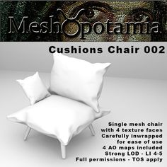 Meshopotamia Cushions chair 002 W AO textures