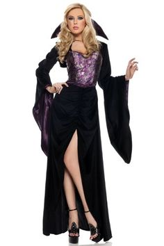 Yourtoppicks : Be Wicked Undead Diva Large/Extra Large Mistress of the Night includes Long velvet dress, shoulder wrap with long sleeves and stand-up collar by Be Wicked. Adult Costumes, Costumes For Women, Halloween Costumes, Halloween 2013, Halloween Ideas, Halloween Party, Full Length Gowns, Full Length Skirts, Plus Size Halloween