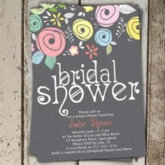printable spring country floral bridal shower invitations online ewbs049 as low as 094