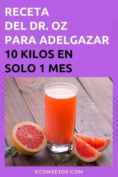 Adelgaza 10 kilos en 1 mes in 2020 Keto Diet Book, Keto Diet Plan, Dr Ozz, Junk Food, Loose Belly, Zone Diet, Keto Drink, Nutrition, Grapefruit