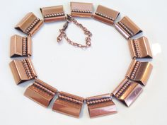 Rare Vintage RENOIR Copper Bold Modernist Beaded by TheCopperCat, $59.00