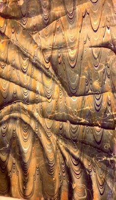Marbled paper by Necmiye Albayrak
