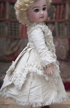 Wonderful Antique French Silk Taffeta DRESS for Jumeau Bru Steiner from respectfulbear on Ruby Lane