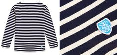 Hardy Amies and Orcival Breton Stripe top and closeup on fabric