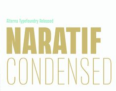 "Check out new work on my @Behance portfolio: ""(Free) Naratif Condensed Typeface"" http://be.net/gallery/60991419/(Free)-Naratif-Condensed-Typeface"