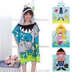 f2294dd644 Size 90 60CM Children Cartoon Baby Hooded Bath Towel Bathrobe Cotton Terry  Infant Kids Bathing