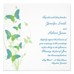 ShoppingBlue and Green Butterfly Vine Wedding Announcementslowest price for you. In addition you can compare price with another store and read helpful reviews. Buy