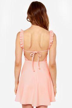Pretty Pink Dress - Skater Dress - Backless Dress - $36.00