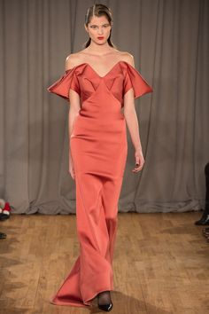 Zac Posen | Fall 2014 Ready-to-Wear Collection | Style.com/ Off the Shoulder