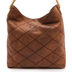 d511ad59ac71  635 NWOT Tory Burch Lysa Stitched Hobo Brown Tobacco Distressed Slouchy  (3568)