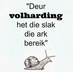 Afrikaanse Inspirerende Gedagtes & Wyshede: Deur volharding het die slak die ark bereik Biblical Quotes, Bible Verses Quotes, Words Quotes, Wise Words, Sayings, Soul Quotes, Life Quotes, Afrikaanse Quotes, Teacher Quotes