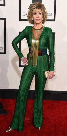 Grammys 2015 Red Carpet Arrivals - Jane Fonda