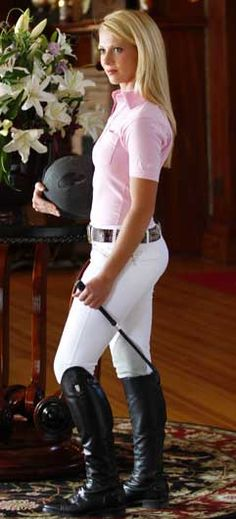 Santio Juno White Knee Patch Breeches Finally a white show breech that will stay white thanks to the Nanosphere® fabric by Schoeller that is stain resistant and machine washable! The Santio bre...
