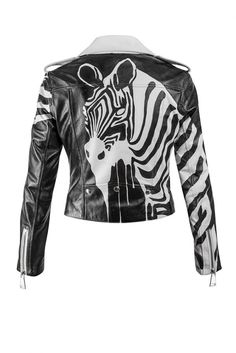 Zebra Leather Jacket