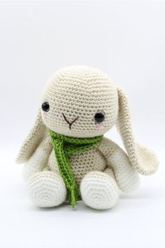 Crochet Amigurumi Bunny Rabbit PATTERN ONLY by HelloYellowYarn
