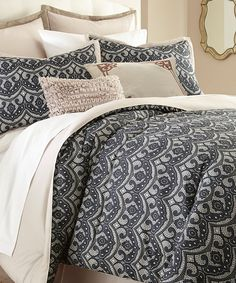 Colonial Home Textiles Sasha Eight-Piece Comforter Set | Create a polished look in your bedroom with this elegant eight-piece comforter set that features a soft microfiber material and a classic pattern.