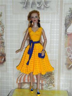 Всем доброго времени суток!!! Хочу представить Вам свои работы выполненные на заказ. Платье для куколки ФР16 для Екатерины Платье для ♡