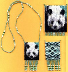 Tiny Panda 33106 Beaded Amulet Bag Necklace