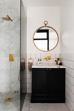 round bathroom mirrors via cocolapinedesign.com