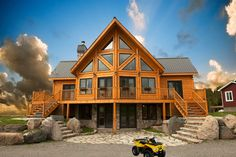 log+cabin+homes | Idaho Log Cabin Homes