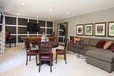 What an awesome spot for relaxing and gaming! #ModelHome