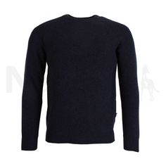 Barbour Mens Keswick Rib Crew Neck Jumper Navy Marl