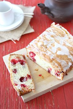 Glazed Cranberry Quick Bread with Crystallized Ginger Recipe by CookinCanuck, via Flickr