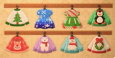 Christmas Design, Christmas Colors, Winter Christmas, Animal Crossing Qr Codes Clothes, Animal Crossing Game, Christmas Jumpers, Christmas Sweaters, Xmas Theme, Motifs Animal