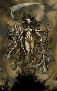 [Horror art] Soul Reaper by abi at Epilogue