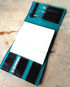 Büchertaschen - Organizer für Kalender-Notizbuch ☆Filz&Leder - ein Designerstück von Chiquita-Jo bei DaWanda