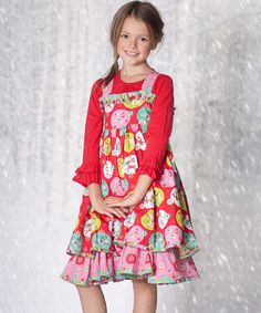 http://www.zulily.com/invite/vhanson979 Take a look at this Red Jingle Jelly Holiday Dress & Top - Infant, Toddler & Girls by Jelly the Pug on #zulily today!