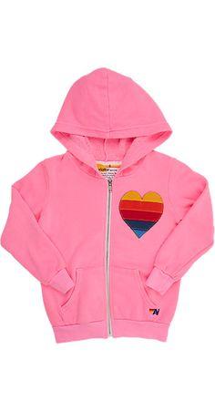46c5c34926eff Aviator Nation Stripe Heart Zip-Front Hoodie Big Kids Clothes