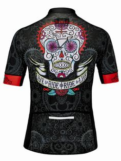 Day of the Living Men s (Black) Jersey. Cycling T ShirtsWomen s Cycling  JerseyCycling ArtCycling JerseysCycling BikesBike ... ff92274c3