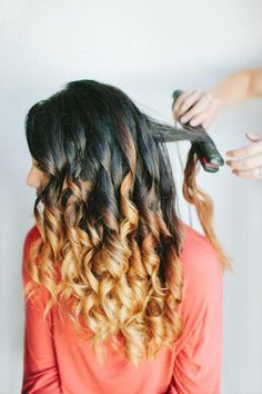Whoa its so pretty its Ombre hair but curled! I love it its so cute!