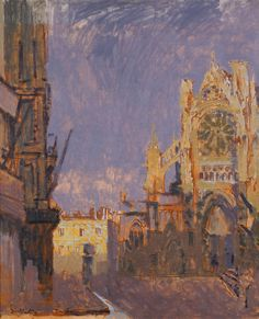 Walter Richard Sickert, A.R.A. | Lot | Sotheby's - Facade of St Jacques in Dieppe painted en plein air I think. Note how he captures the form of the facade suggesting the detail in a sketchy way
