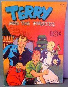 Milton CANIFF TERRY & The PIRATES Large Feature Comics #2 Tony Raiola 1983 Reprint Newspaper Adventure Comic Strips Funnies
