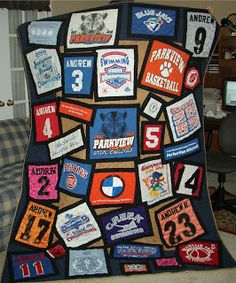 T Shirt Quilt - use scraps to make coordinating band around the ... : quilt t shirts - Adamdwight.com