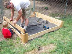 DIY sandbox