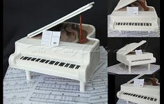 Debbie and Pete wanted a Grand Piano Cake for their wedding. They are both musicians and both huge Beatles fans. It was the perfect celeb. Music Themed Cakes, Music Cakes, Decorating Jobs, Cake Decorating Videos, Wedding Cake Toppers, Wedding Cakes, Piano Cakes, Fondant, Grand Piano