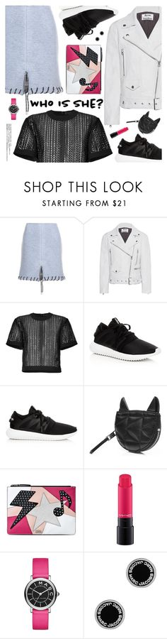 """""""Who Is She?"""" by pokadoll ❤ liked on Polyvore featuring Acne Studios, Alexander Wang, adidas, Karl Lagerfeld, MAC Cosmetics, Marc Jacobs, Chantal, polyvoreeditorial and polyvoreset"""