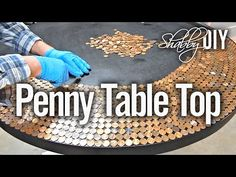 Penny Table Top Using Glaze Coat - YouTube