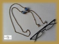 #Brillenkette #nachtleuchtend bronze von bigXel-#Naturschmuck und Wollkunst auf DaWanda.com