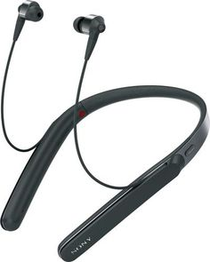 Sony - 1000X Premium Wireless Noise Cancelling Behind-the-Neck Headphones - Black