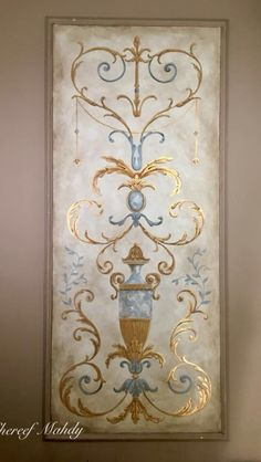 Ceiling Painting, Wall Painting Decor, Faux Painting, Art Decor, French Decor, French Country Decorating, Ceiling Design, Wall Design, Motif Arabesque