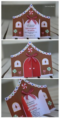 15 Christmas Birthday Gingerbread House Invitations by Palm Beach Polkadots Gingerbread Birthday Party, Gingerbread House Parties, Christmas Birthday Party, Christmas Gingerbread House, Christmas Party Decorations, Kids Christmas, Christmas Crafts, White Christmas, Christmas Cookies