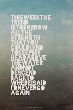 This Week the Trend<< This song is so true.