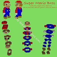 Super Mario Bros free 3d perler beads pattern